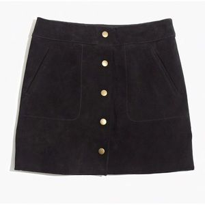 Madewell suede skirt - like new